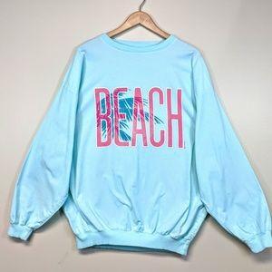 Vintage 1987 Cotton Beach Pullover